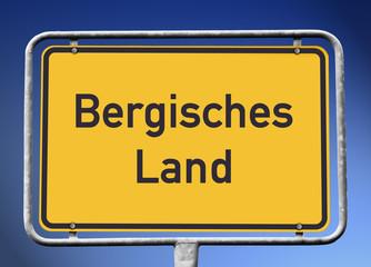 Schild Bergisches Land