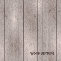 Light brown wood texture, vintage background. Vector illustration.