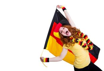 jubelnder Fussballfan Deutschland