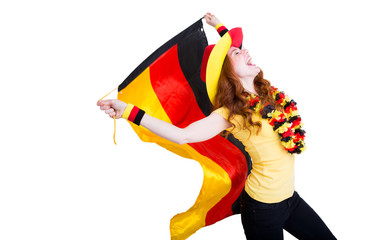 jubelnder Deutschland Fan Frau EM