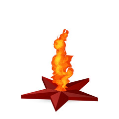 eternal flame in red star