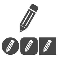 Pencil icon - vector icons set
