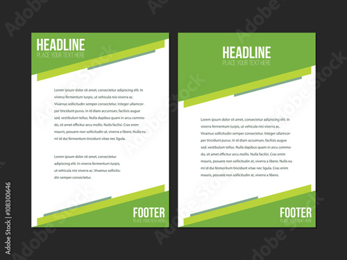 Green And White Leaflet Brochure Flyer Template A Size Design - Brochure flyer templates