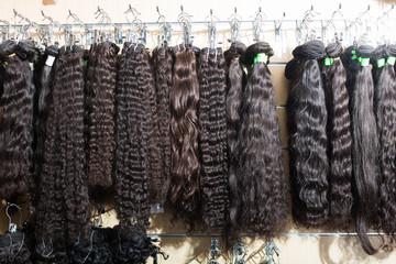 Assortment of human hair extensions