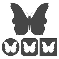 Butterfly icon - vector icons set