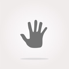 vector hand icon on web button. Web Icon Art. Graphic Icon Drawing