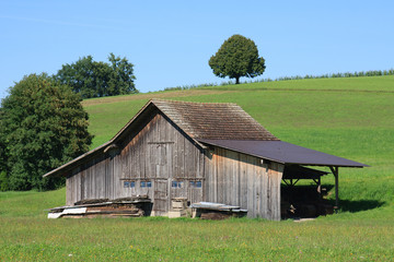 Rustic Rural Wooden Storage Barn