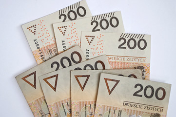 Background from 200 polish zloty