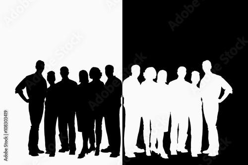Personas en fondo blanco