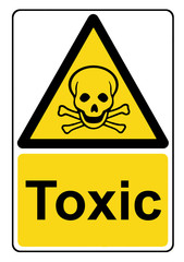 Toxic yellow warning sign