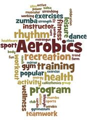 Aerobics, word cloud concept 8