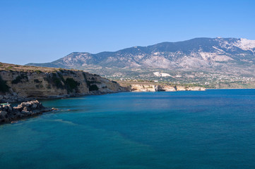 Cliff coast of Kefalonia island