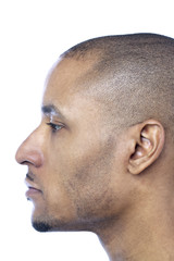side view image of a man's face