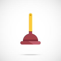 Plunger flat icon. Vector illustration