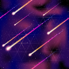 Seamless meteor shower background