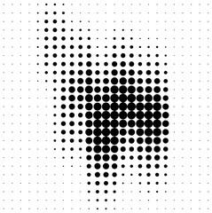 Abstract halftone soundwave design element