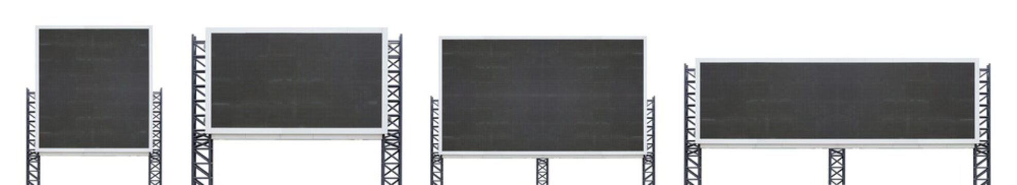 set of large sign board