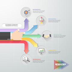 Business concept infographic template, Can be used for workflow layout, diagram