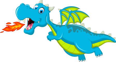 cute blue dragon cartoon