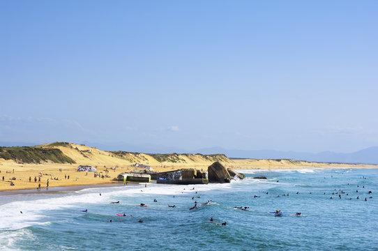 Beach of Capbreton, France