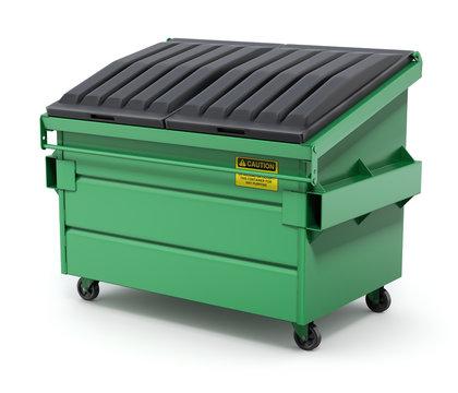 Green Dumpster - 3D illustration