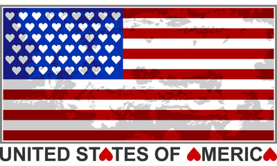 United States flag vector illustration