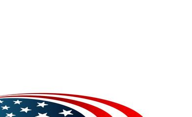 american flag circle