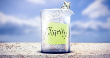 Composite image of charity message