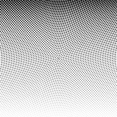 Vector radial dotted halftone background