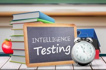 Composite image of words intelligence testing