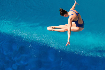 Wall Mural - Diving. Attractive dive, shot from above