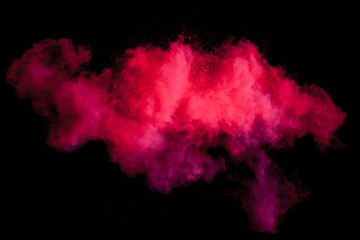 Freeze motion of red dust explosion