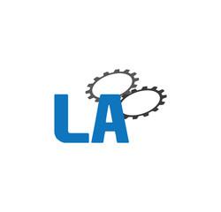 la alphabet with 2 gears