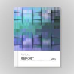Annual Report Cover vector illustration