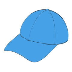 2d cartoon illustration of baseball cap