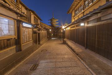 Old street and Yasaka pagoda in Kyoto, Japan