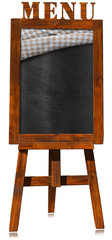Restaurant Menu - Empty Blackboard on a Easel