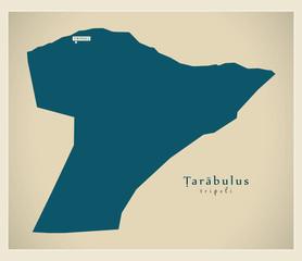 Modern Map - Tarabulus LY