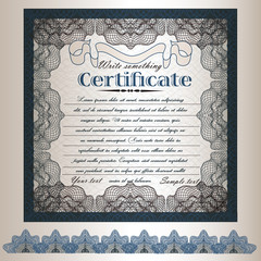 Foto op Canvas Vintage Poster 5).Certificate or gift coupon design in retro classic style for