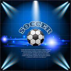 Abstract blue light football soccer background eps 10 vector ill
