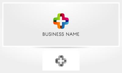 Cross Colorful Health Medic Plus Logo