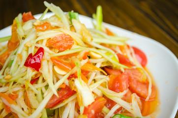 Famous Thai food, papaya salad