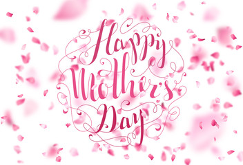 Happy Mother's Day. Spring Typographical Background.
