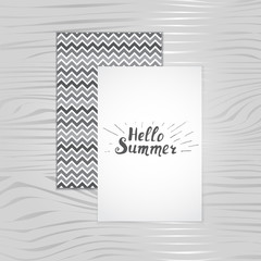 Hello summer, card,