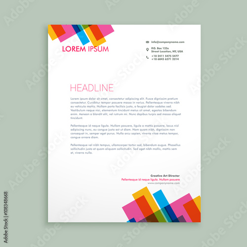 Creative Colorful Letterhead Design