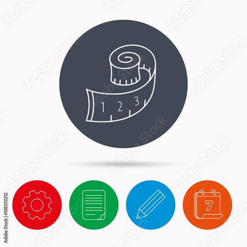 measuring tape icon weight loss sign fotolia com の ストック画像と