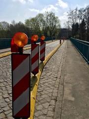 Baustelle auf der Brücke