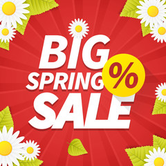 Seasonal big spring sales business background