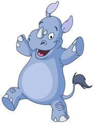 Dancing rhino