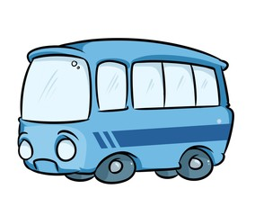 Bus transport cartoon illustration isolated image